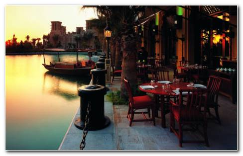 Outdoor Resturant Dubai HD Wallpaper