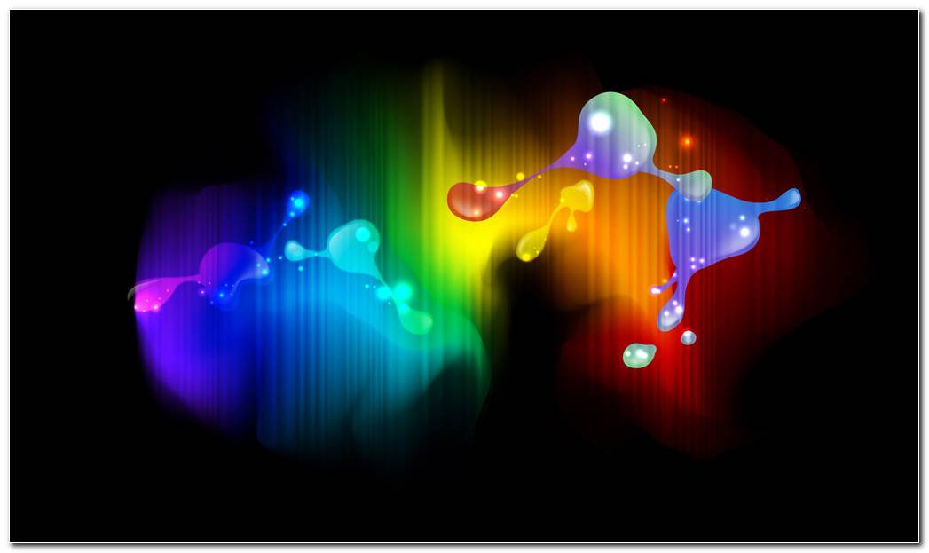 Paint Splash On The Screen Colorful Background Wallpaper