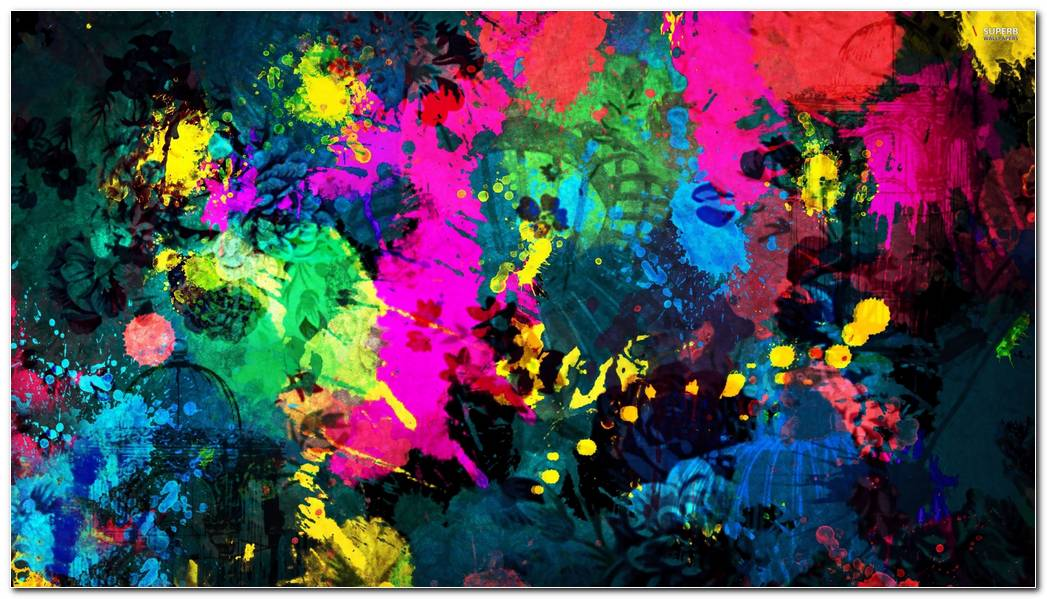 Paint Splatter HD Wallpaper