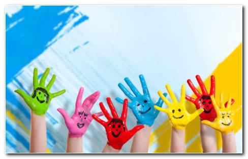 Painted Hands HD Wallpaper