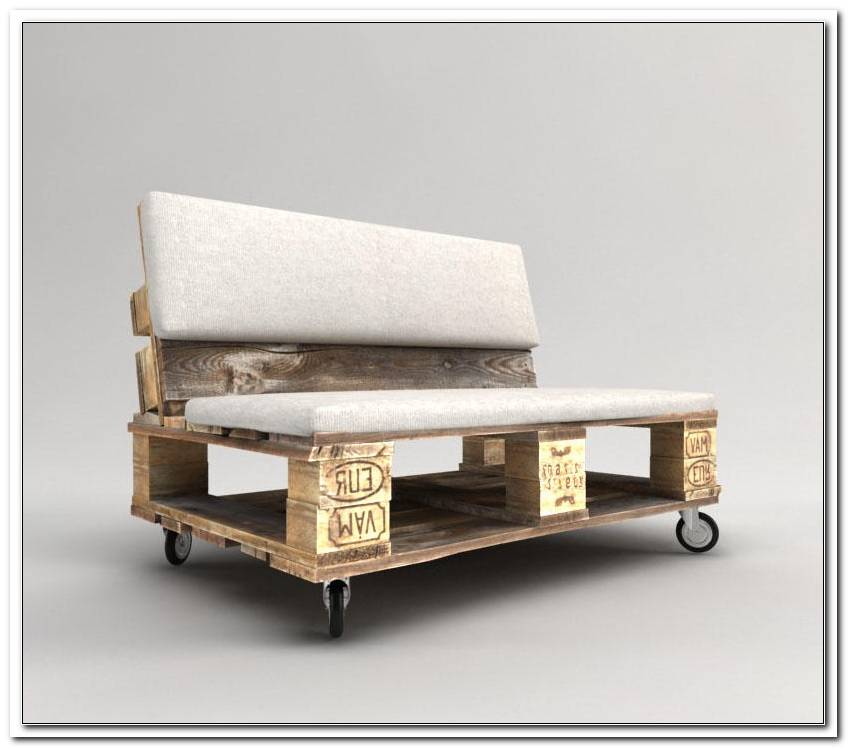 Paletten Sofa Auf Rollen