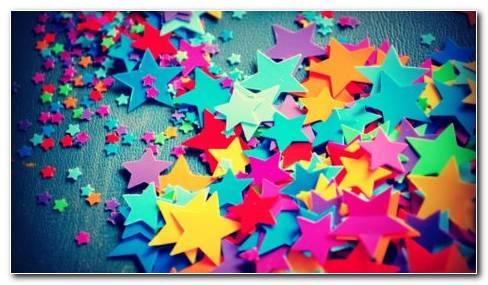 Paper Colorful Stars HD Wallpaper