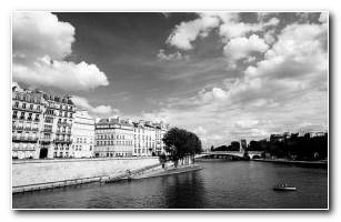 Paris Black And White 1440x900