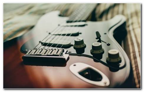 Photography Of Electric Guitar HD Wallpaper