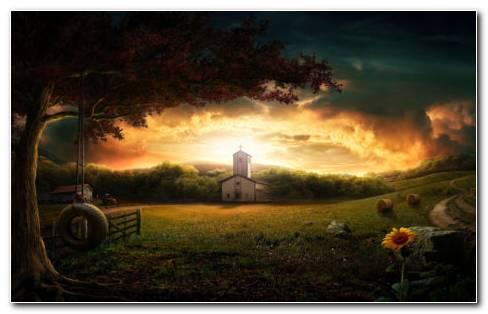 Photoshop nature landscape HD wallpaper