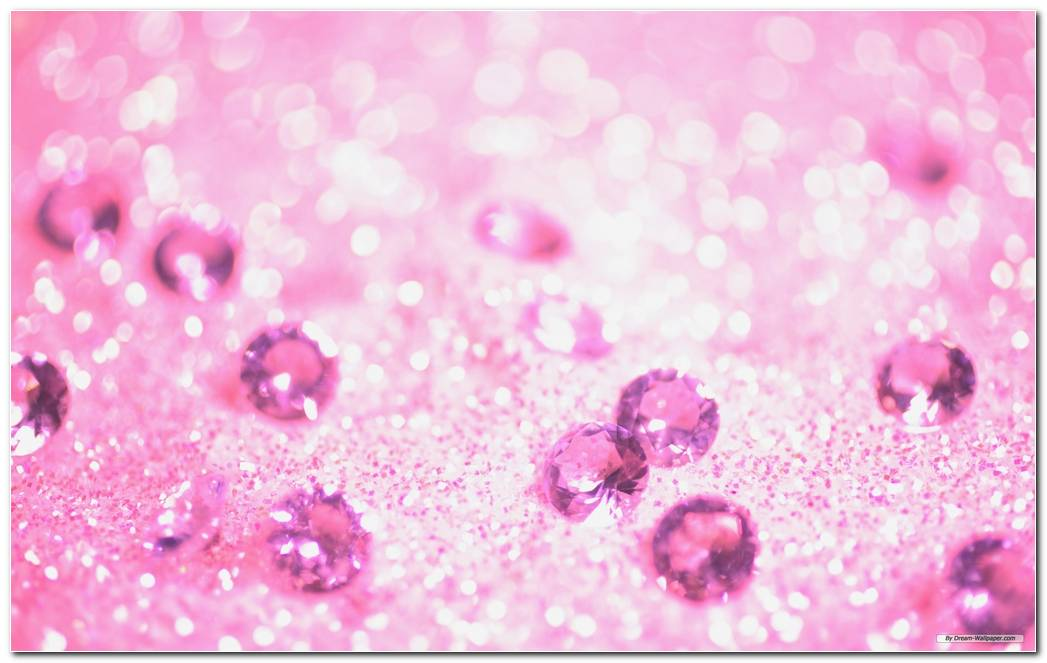 Pink And Diamond Background Wallpaper