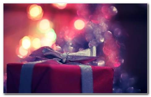 Pink Chrismas Gifts HD Wallpaper