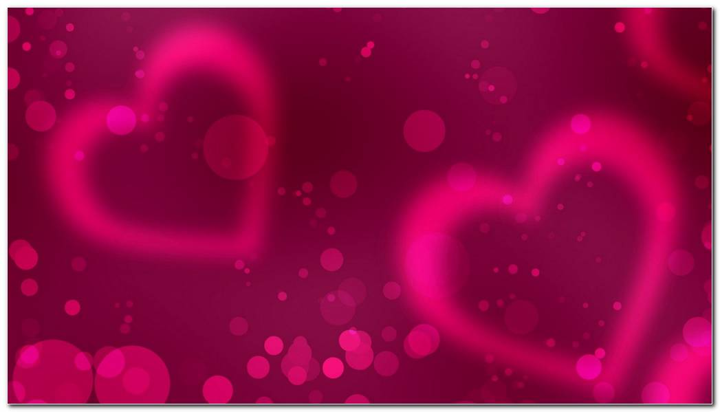 Pink Love Hearts Smoke Background Wallpaper