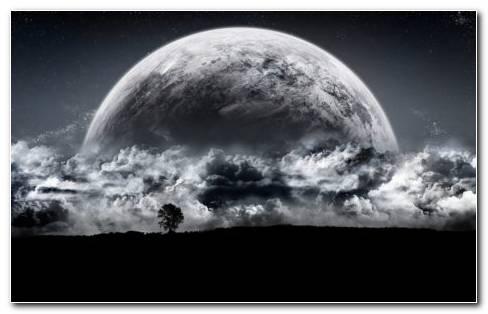 Planet Under Space Smoke HD Wallpaper