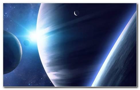 Planets Collide HD Wallpaper