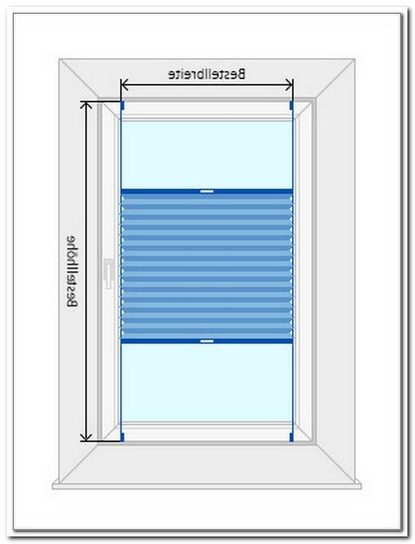 Plissee Fenster Ausmessen