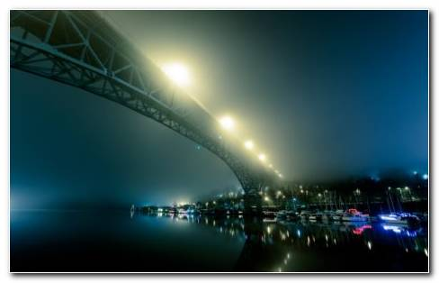 Port bridge HD wallpaper
