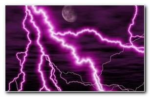 Powerful Lightning Digital 3d Wallpaper