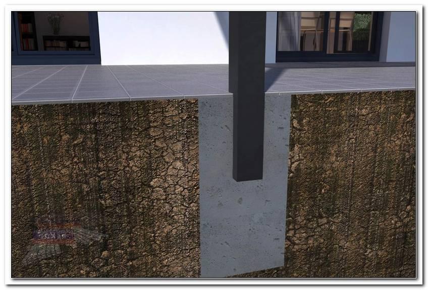 Punktfundament Terrassen?Berdachung