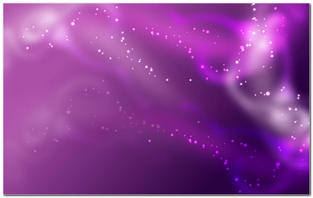 Purple Background With Stars And Flowers Background Wallpaper