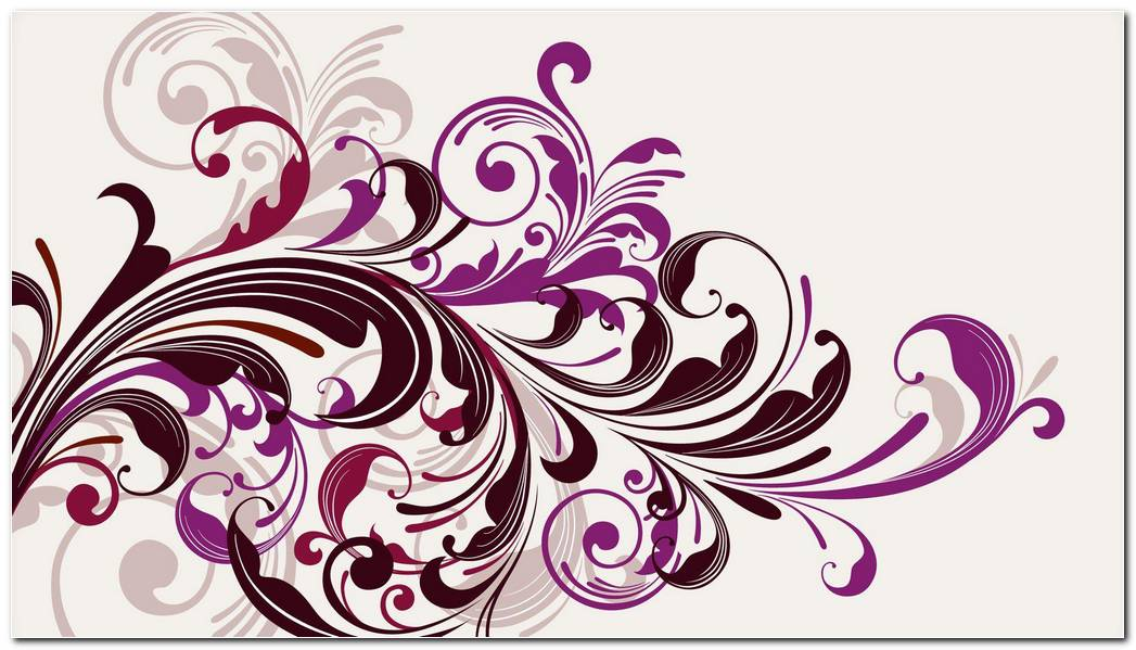 Purple Vectors Swirls Floral Background Wallpaper