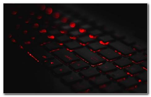 QWERTY Black Keyboard With Red Lights