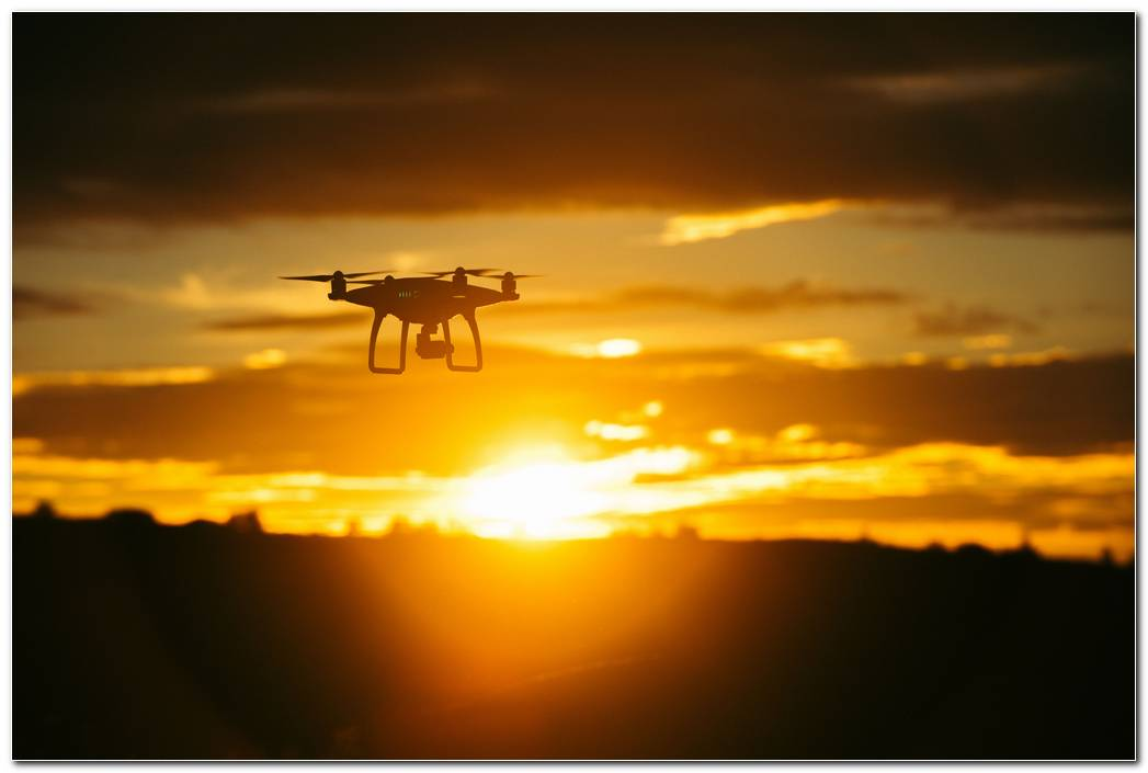 Quadrocopter Sky Sunset Wallpaper