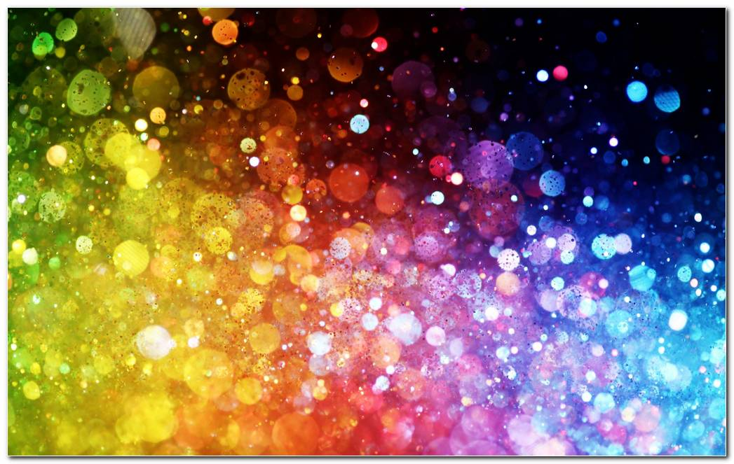 Rainbow Splash Dots Paint Color Splash Background Wallpaper