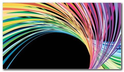 Rainbow Curves Wallpaper