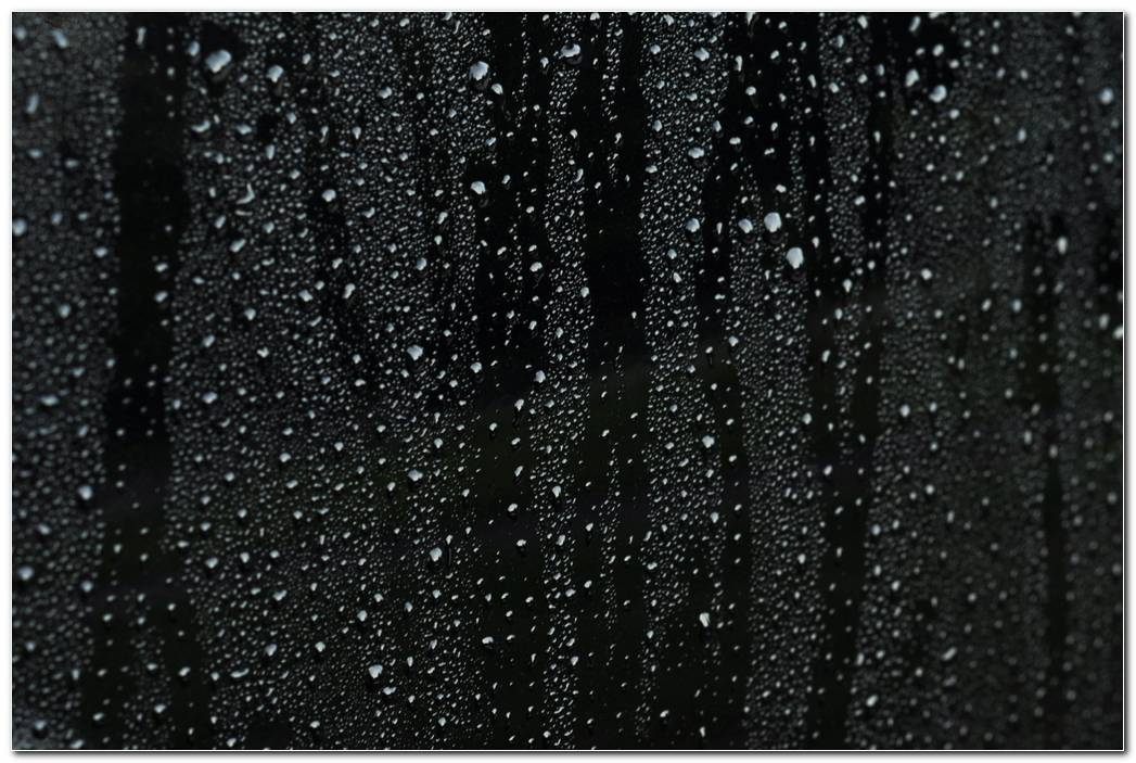 Raindrops Black Wallpaper Background