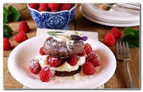 Raspberry Desserts On Table