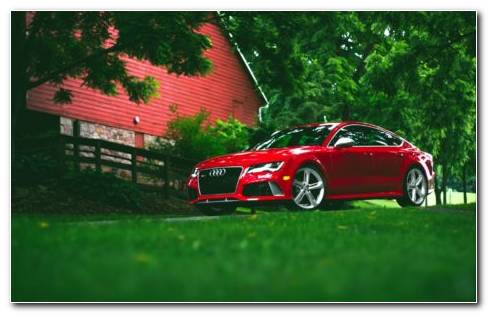Red Audi Car Model RS7 2019