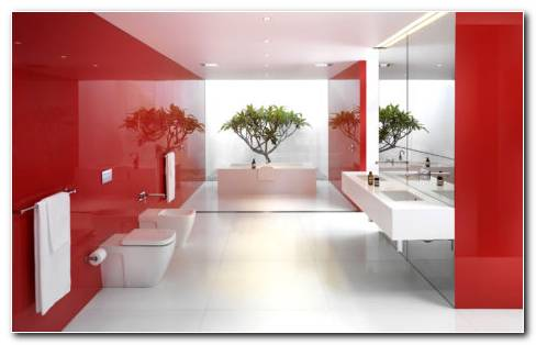 Red Bathroom Designs HD Wallpaper