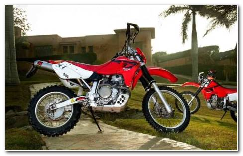 Red Bike Honda XR650L Standing