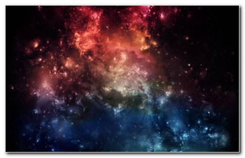 Red Blue galaxy HD wallpaper
