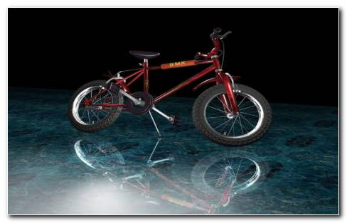 Red Sports BMX Bike HD Wallpaper