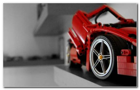 Red Toy Car HD Wallpaper