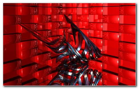 Red cubes robot toy HD wallpaper