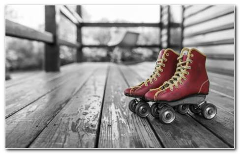 Retro Skates HD Wallpaper