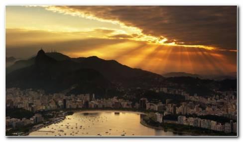 Rio De Janeiro Sunset HD Wallpaper