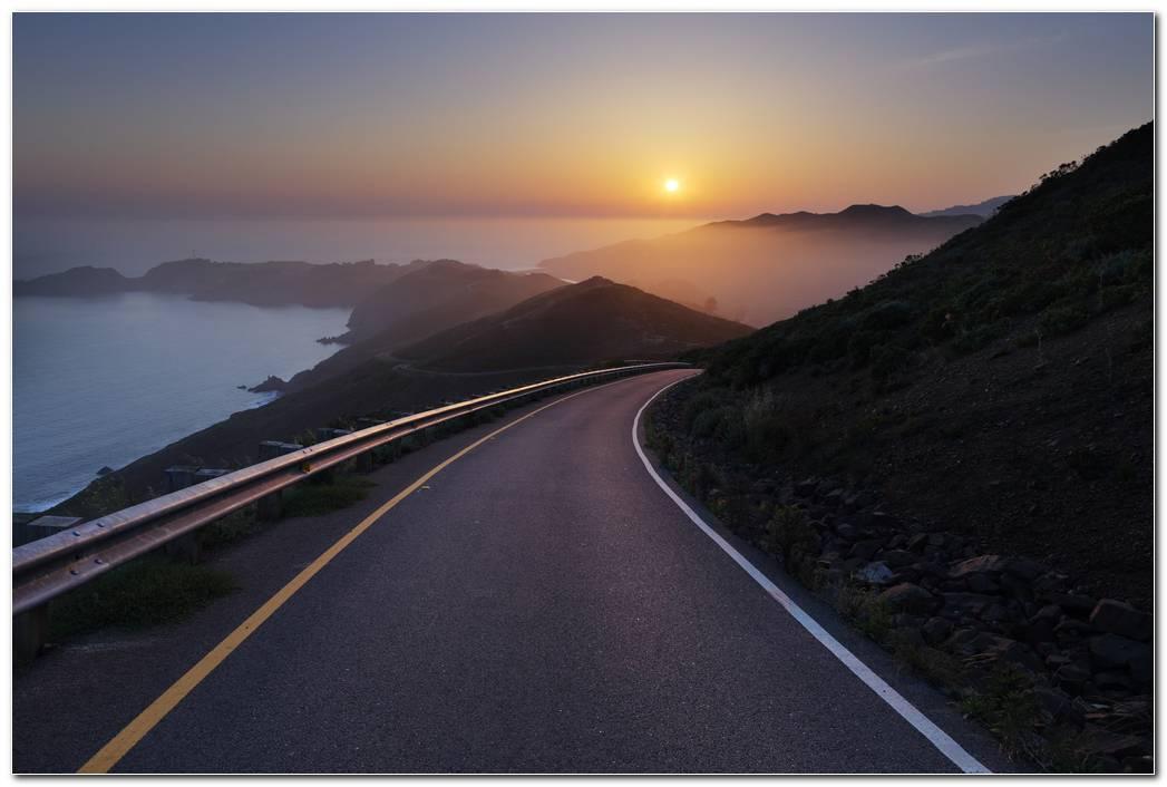 Road Sunset Wallpaper Hd