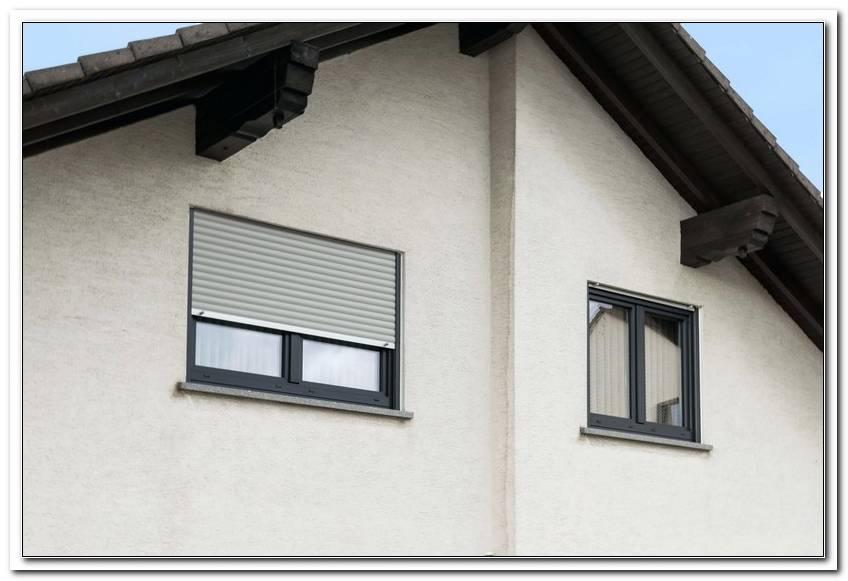 Rollladen Grau Fenster Anthrazit