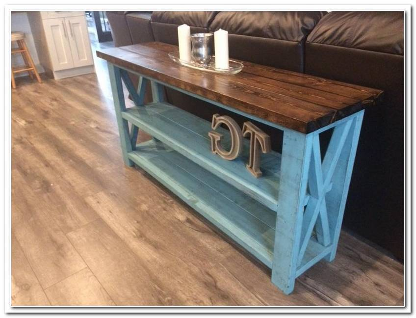 Rustic X Sofa Table Plans