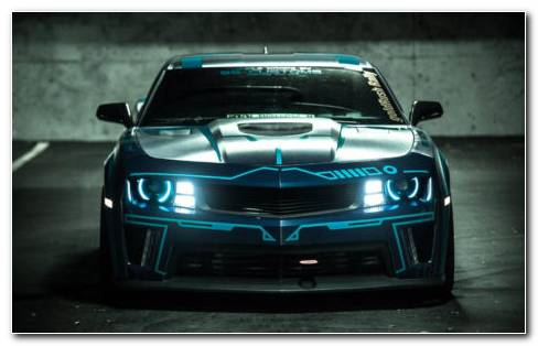 SS Customs TRON Chevrolet HD Wallpaper