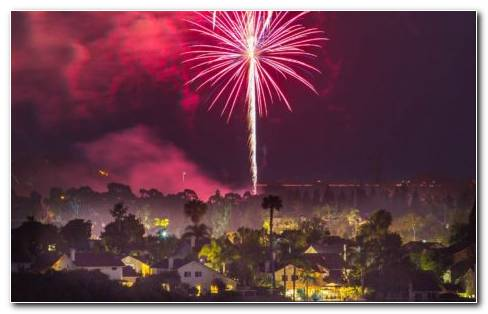 San Diego Fireworks HD Wallpaper