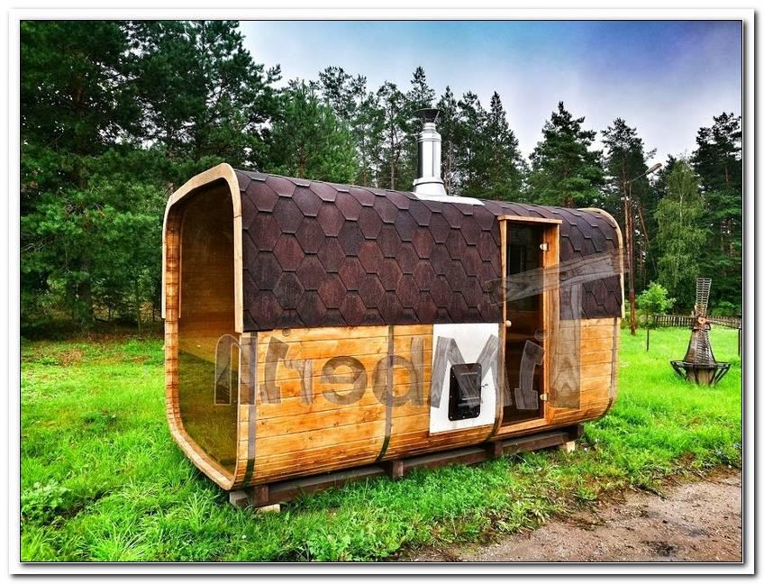 Sauna Mit Holzofen Im Garten