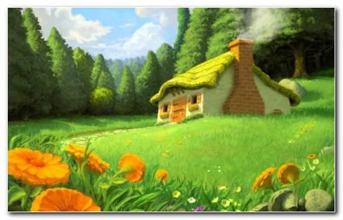Scenery Drawing HD Wallpaper
