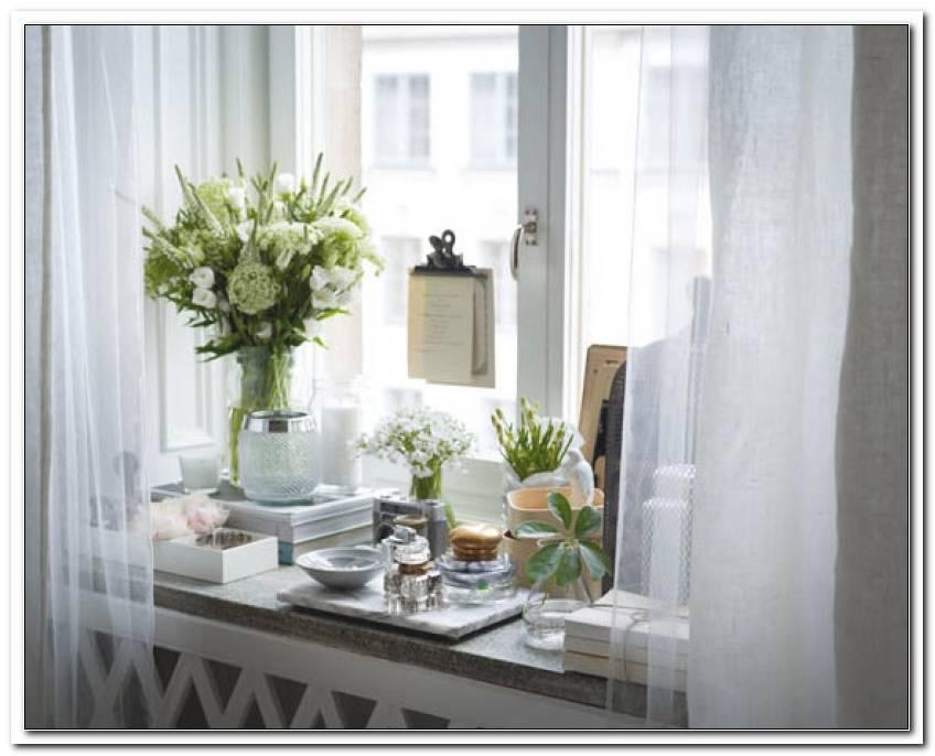 Schlafzimmer Fensterbank Deko