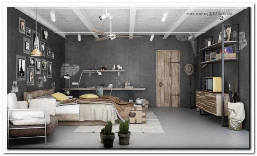 Schlafzimmer Industrial Look