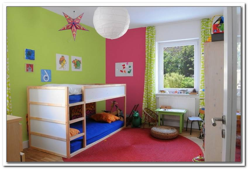 Schlafzimmer Und Kinderzimmer In Einem Raum