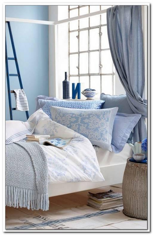 Schlafzimmer Wei? Blau