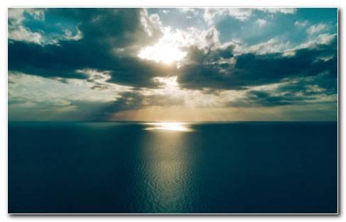 Sea Clouds Horizon HD wallpaper