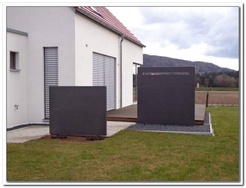 Seitlicher Sichtschutz Terrasse