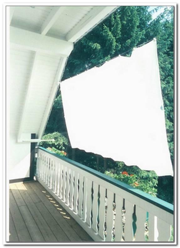 Senkrecht Sonnensegel F?R Balkon Und Terrasse