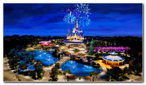Shanghai Disneyland HD wallpaper